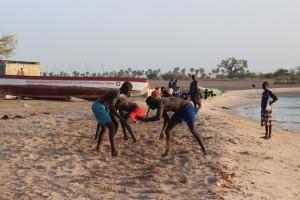Entrainement de lutte à Mar Lodj