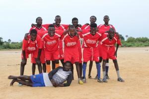 L'équipe de foot rééquipée