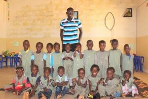 Les élèves de moyenne section de l'école maternelle publique de Mar Lodj